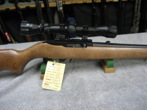 Ruger model 10-22 with a 3x9 scope new.  SOLD OUT - Product Image
