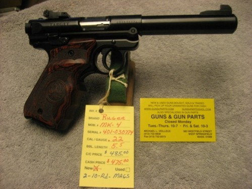 Ruger MK-4 target  .22 caliber new.  SOLD OUT - Product Image